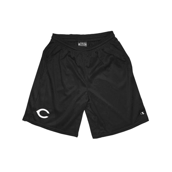 "REDS Champion - 9"" Pocketed Mesh Shorts - Black"