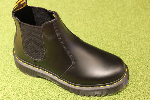 Dr. Martens Women's 2976 Bex Chelsea Boot - Black Smooth Leather Side Angle View