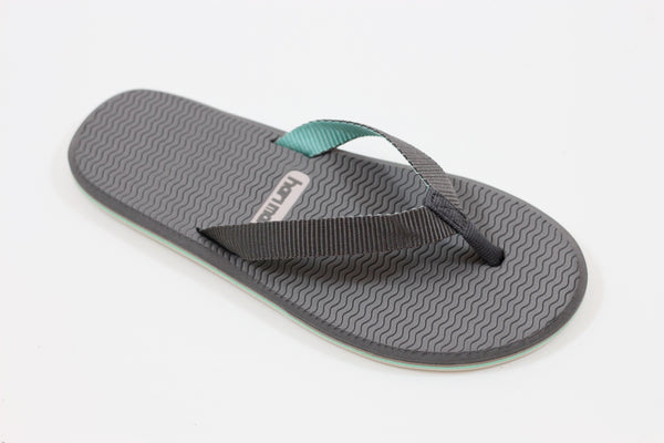 Hari Mari Women's Dunes Sandal - Grey/Mint Nylon Side Angle View