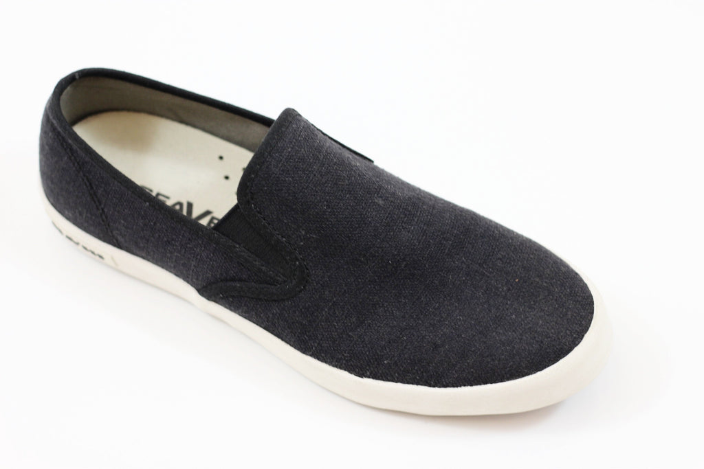 Seavees Women's Baja Slip On - Black Linen