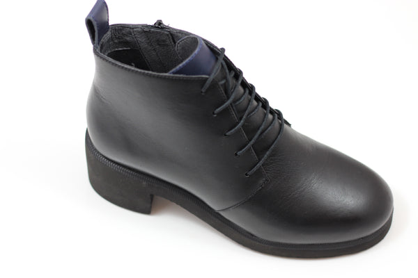 Camper Women's Wonder Boot- Black Leather