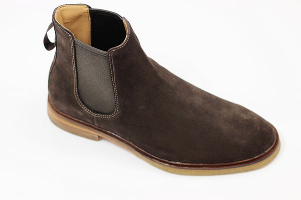 Clarks Men's Clarkdale Gobi Boot - Brown Suede Side Angle View