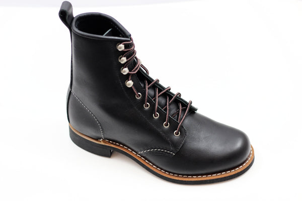 Red Wing Women's Silversmith Boot - Black Leather Side Angle View