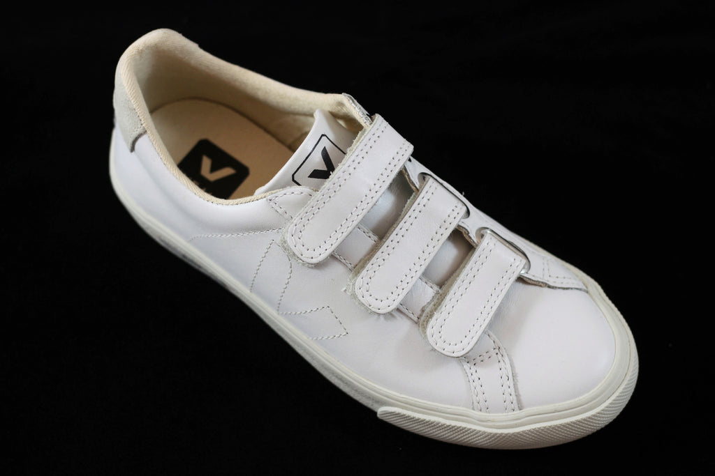 Veja 3 Lock Unisex Sneaker - White Leather
