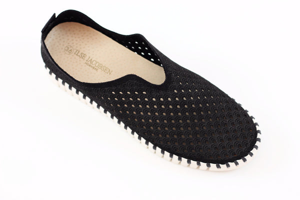 Ilse Jacobsen Women's Tulip Slip On - Black Side Angle View