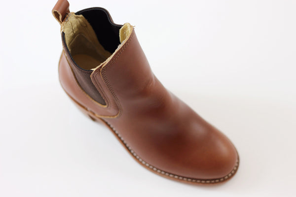 Red Wing Women's Harriet Chelsea Boot - Cognac Calf Side Angle View