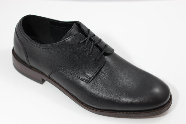 Clarks Men's Flow Plain Oxford - Black Leather Side Angle View