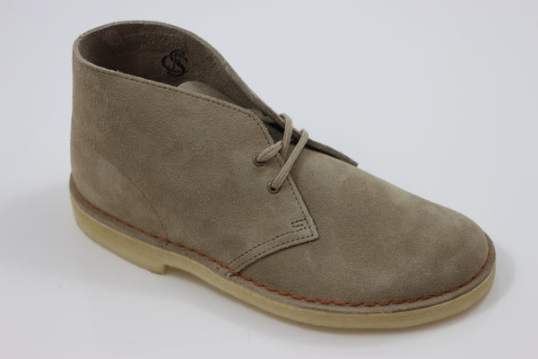 Clarks Men's Desert Boot - Sand Suede Side Angle View