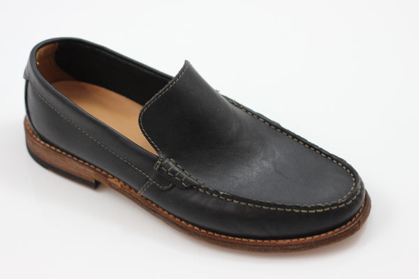 Clarks Men's Pace Barnes Slip On - Black Leather Side Angle View