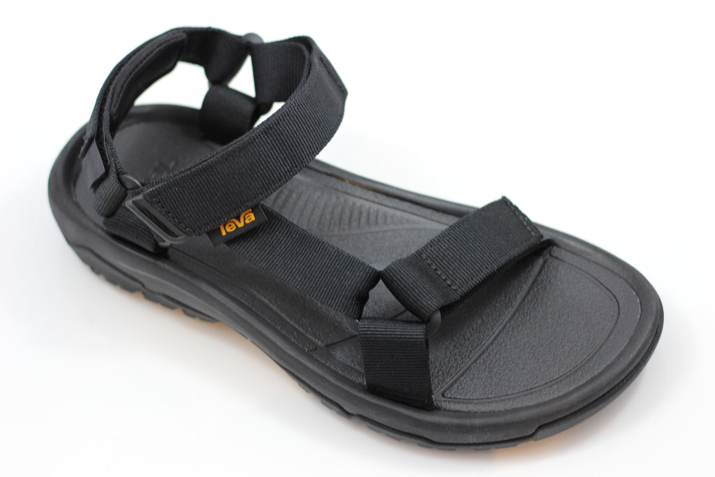 Teva Men's Hurricane XLT2 Sandal- Black Nylon Side Angle View