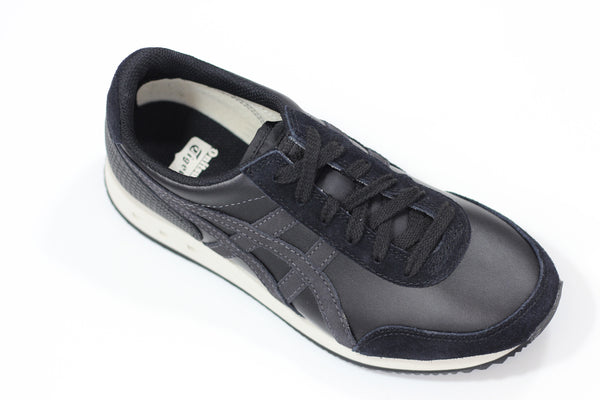 Onitsuka Tiger Unisex New York Sneaker - Black/Phantom Leather Side Angle View