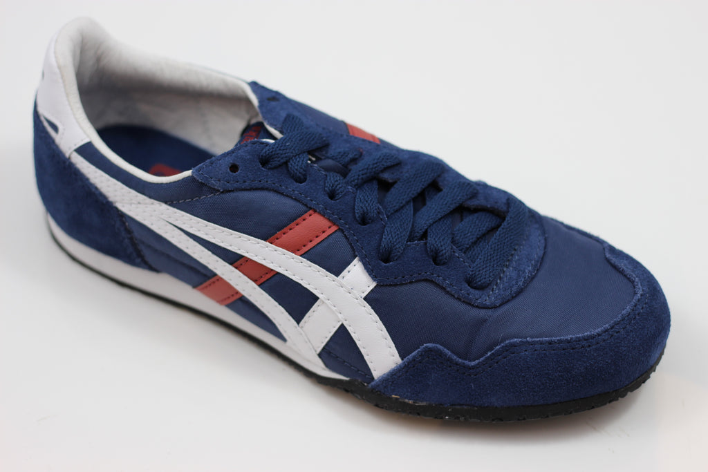 Onitsuka Tiger Unisex Serrano Sneaker - Independant Blue/White Side Angle View