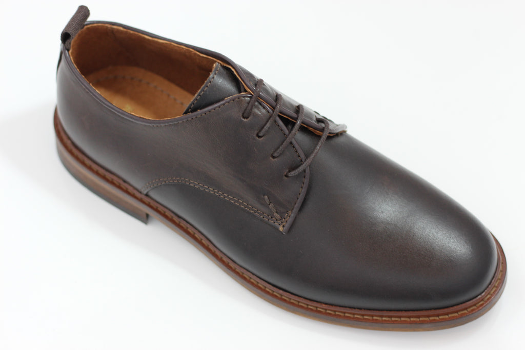 Shoe The Bear Mens Nate L Oxford - Brown Leather Side Angle View