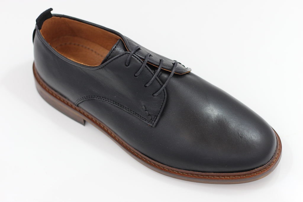 Shoe The Bear Mens Nate L Oxford - Black Leather Side Angle View