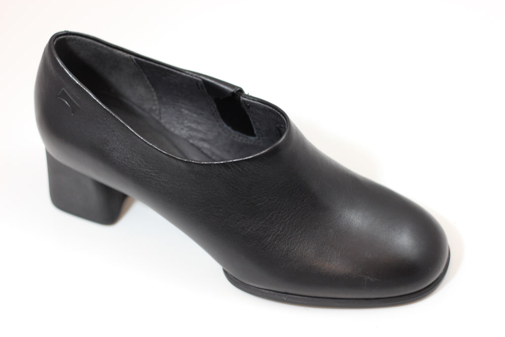 Camper Womens Katie Pump - Black Leather Side Angle View