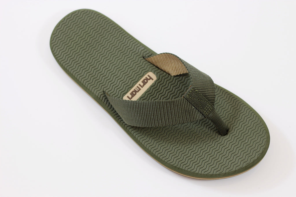 Hari Mari Men's Dunes Sandal - Dark Green Nylon