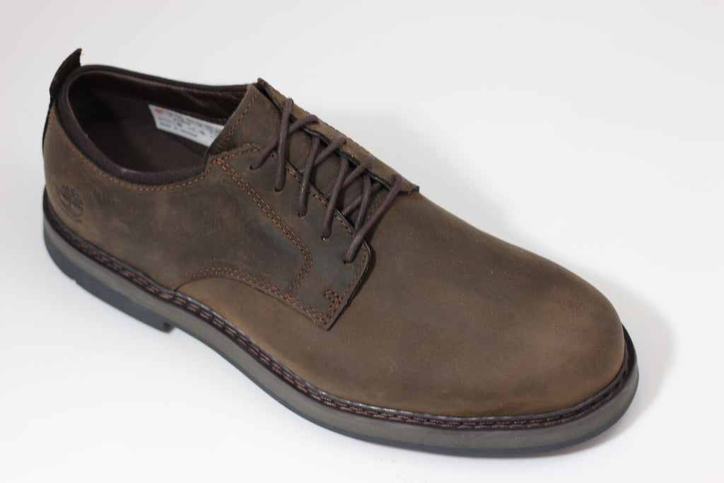 Timberland Men's Squall Canyon Oxford - Dark Brown Nubuck Side Angle View