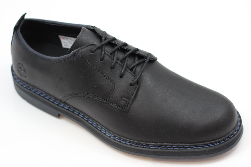 Timberland Men's Squall Canyon Oxford - Black Leather Side Angle View