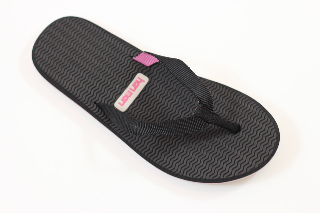 Hari Mari Women's Dunes Sandal - Black Nylon Side Angle View