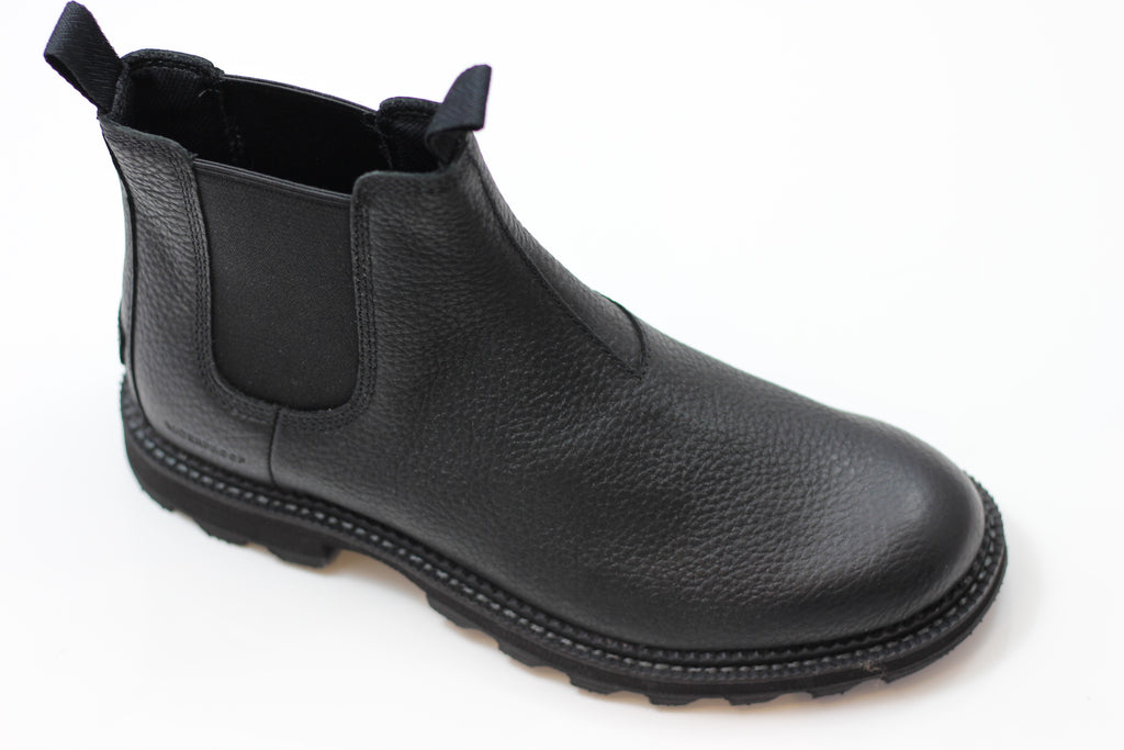 Sorel Mens Madson Chelsea Boot - Black Grain Leather Side Angle View