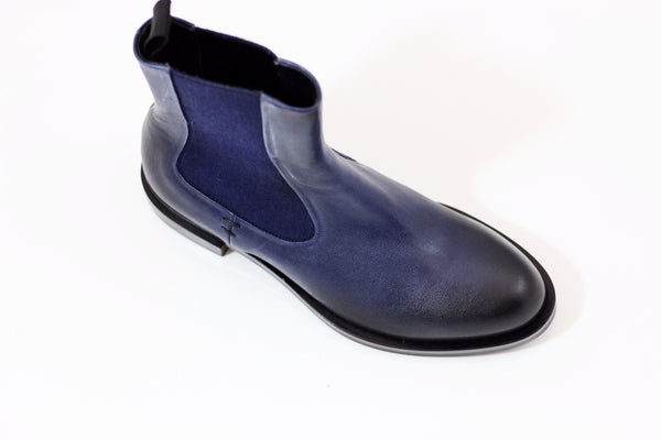 Halmanera Women's Vera06 Chelsea Boot - Blue Calf