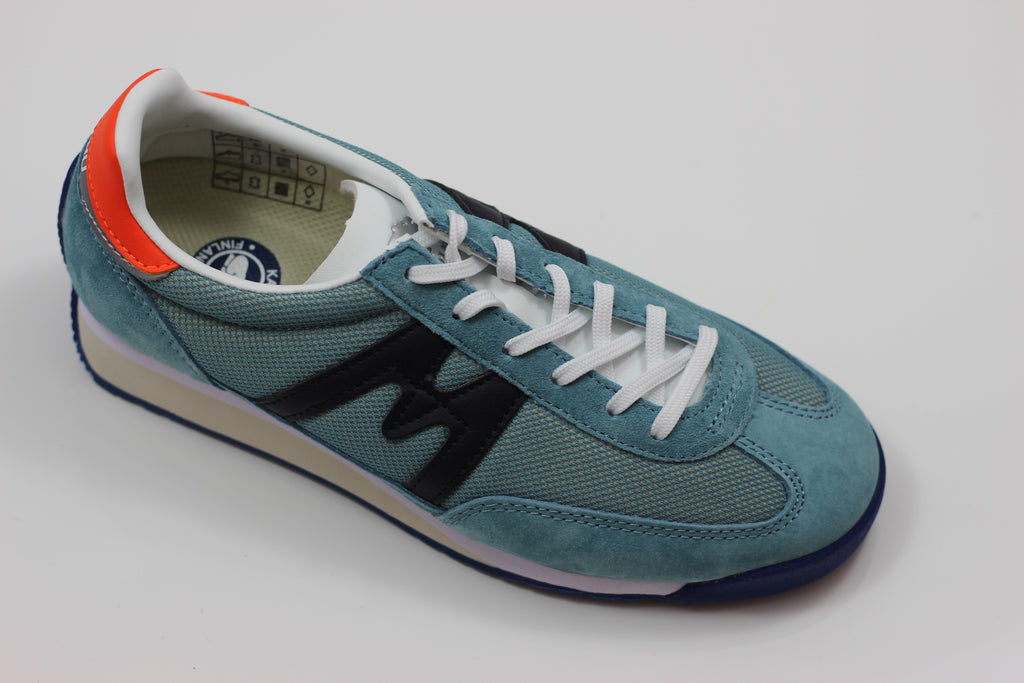 Karhu Womens Championair Sneaker - Cameo Blue/Night Sky Suede/Mesh - Side Angle View