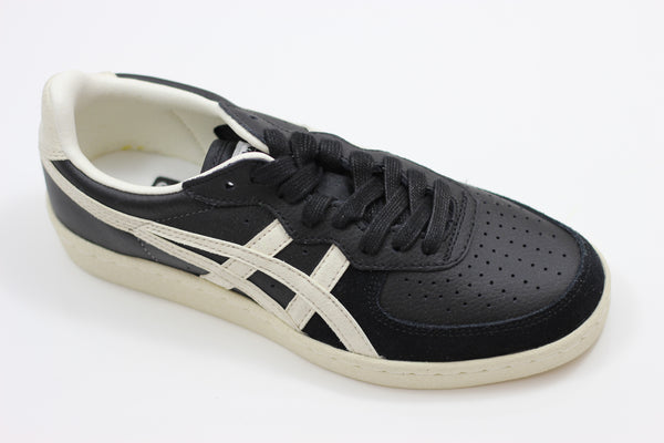 Onitsuka Tiger GSM Sneaker - Black/White Leather/Suede - Side Angle View