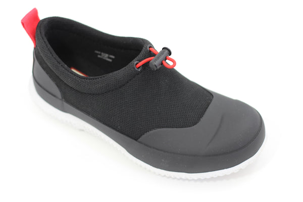 Hunter Women's Original Mesh Shoe - Black Mesh/Rubber - Side Angle View