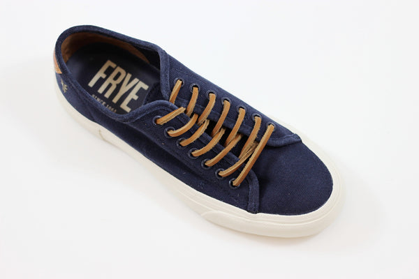 Frye Mens Ludlow Low Sneaker - Navy Canvas/Suede