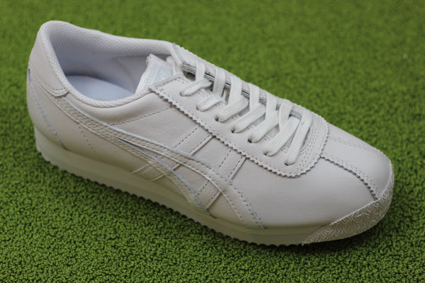 Onitsuka Tiger Unisex Corsair Sneaker - White Leather Side Angle View