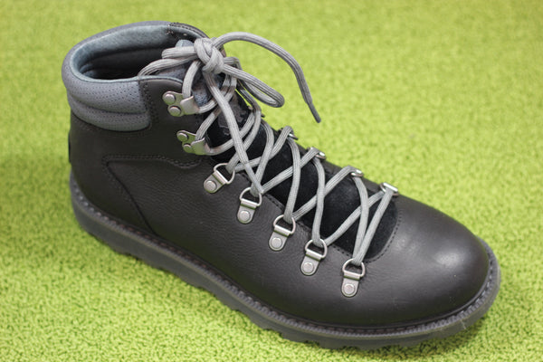 Sorel Mens Madson II Hiker - Black/Grey Leather Side Angle View