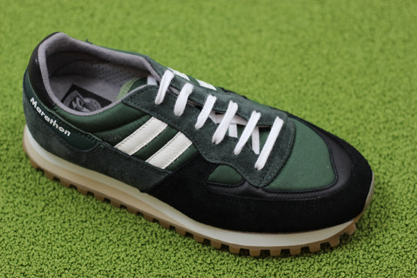 Reproduction of Found Womens 2200F Sneaker - Dark Green/Black Side Angle View