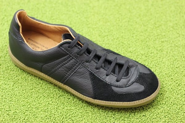 Reproduction of Found Womens 1700L Sneaker - Black Leather Side Angle View