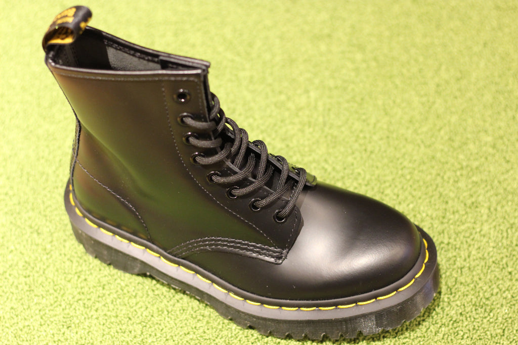 Dr. Martens Women's 1460 Bex Lace Boot - Black Smooth Leather Side Angle View