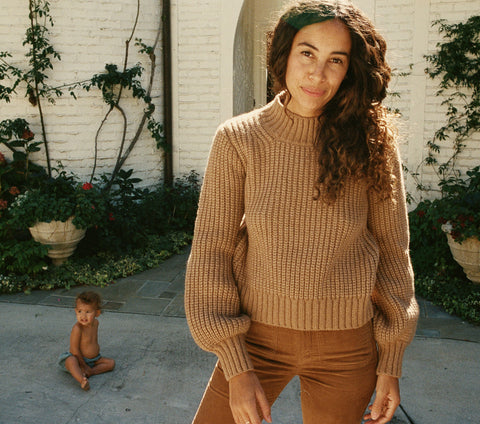LULU SWEATER -- ALMOND