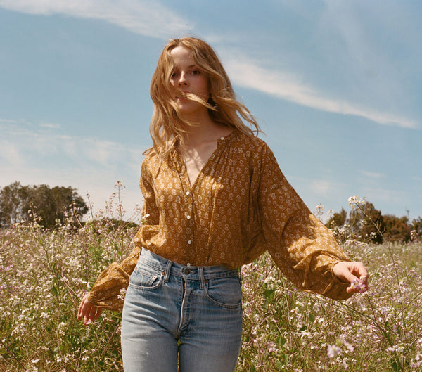 THE JANE BLOUSE -- GOLDEN