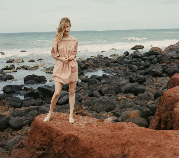 ROSEMARY DRESS -- DUSTY PINK