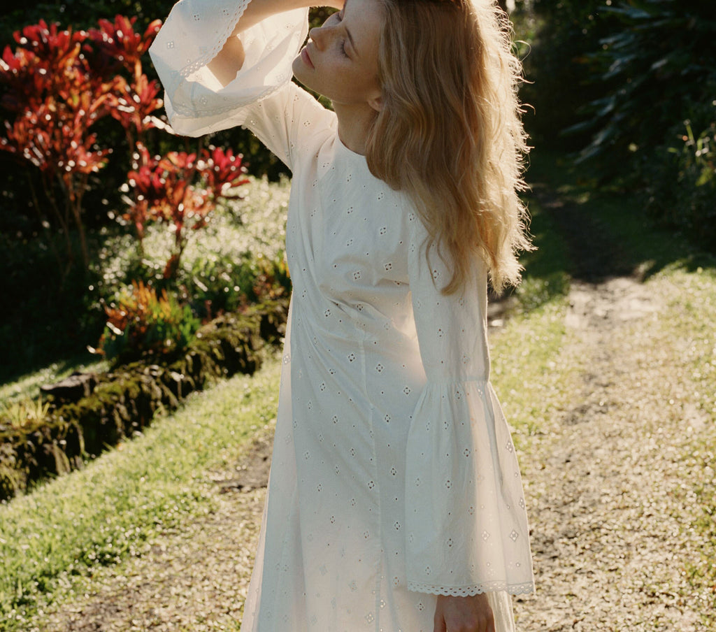 NOISETTE DRESS -- SALT