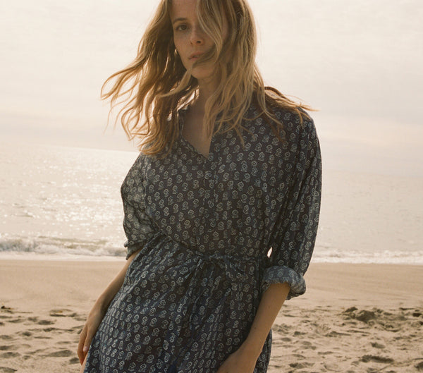 ARGAN DRESS -- INDIGO
