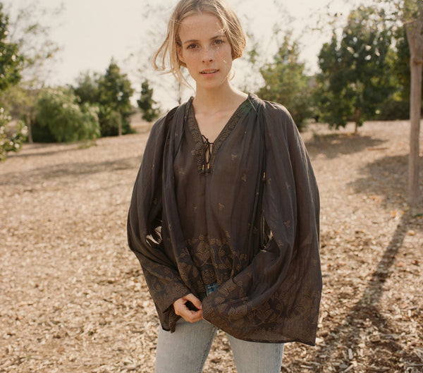 MARIGOLD TOP -- BLACK GOLD