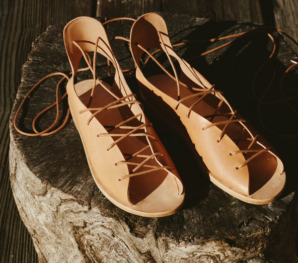 GLADIATOR SANDAL -- Saltillo Tan