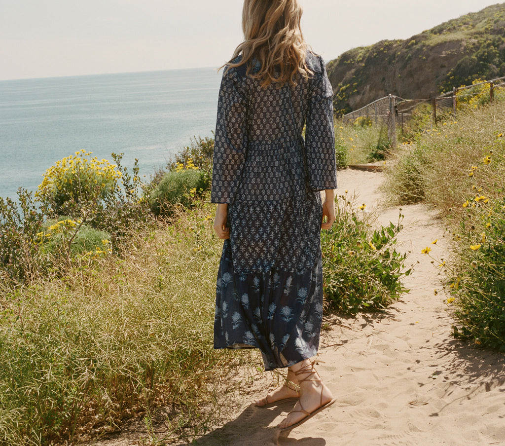 BASIL DRESS -- INDIGO