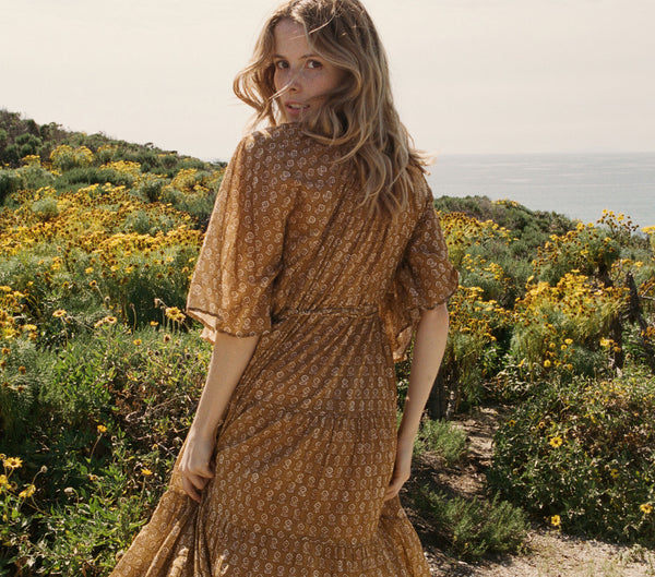 SORELL DRESS -- GOLDEN