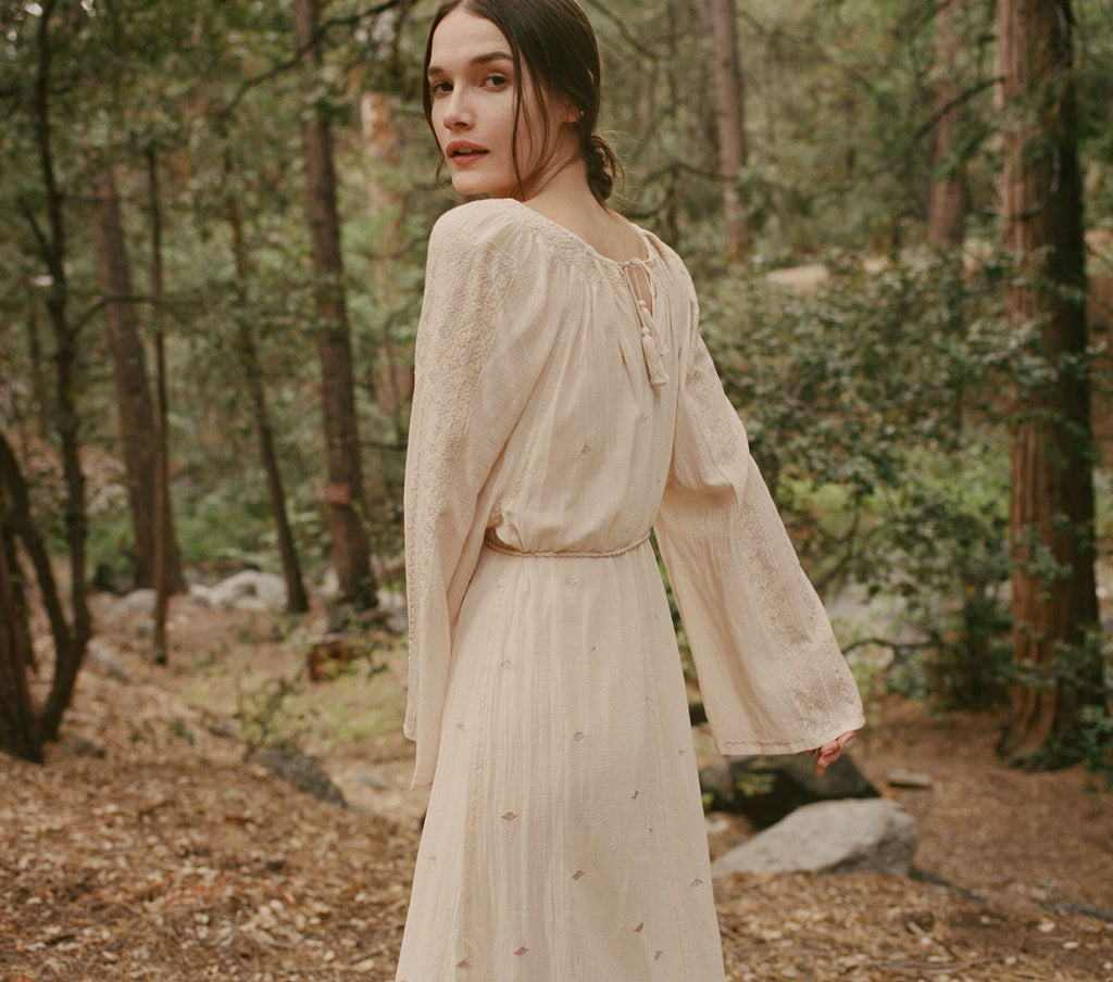 THE CARAVAN DRESS -- CREAM