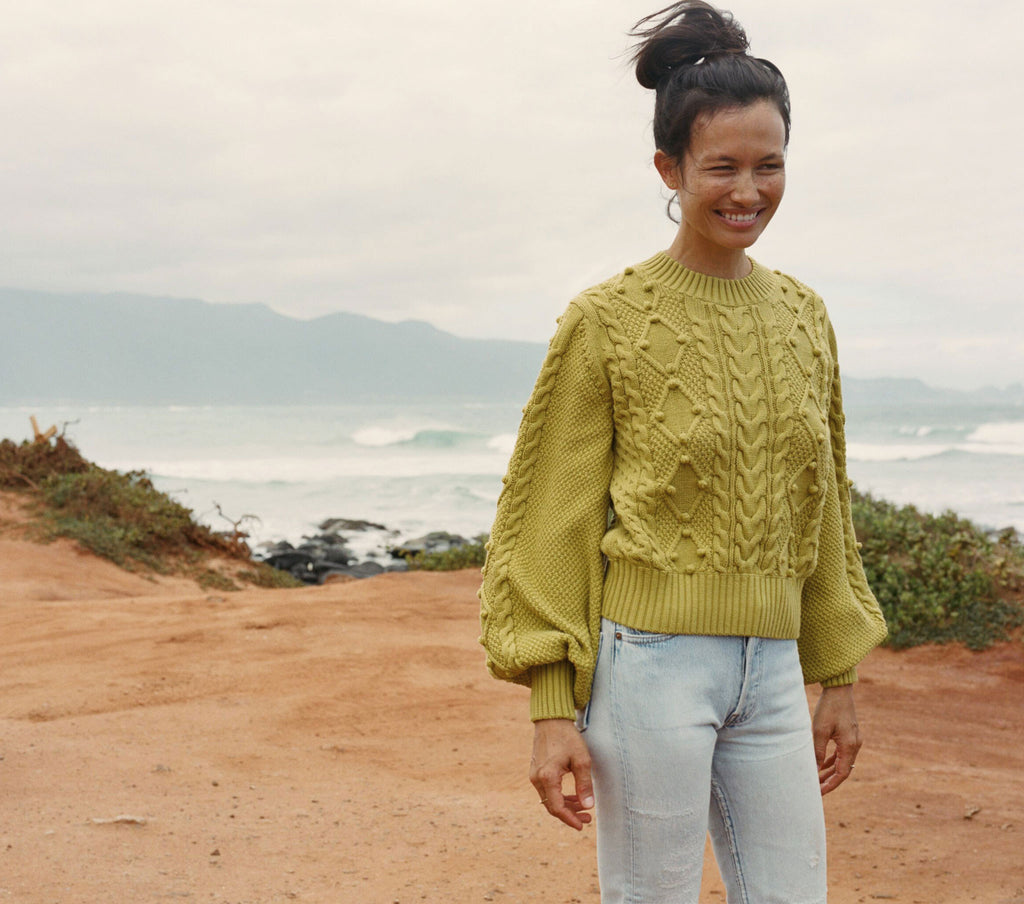 POM POM LULU SWEATER -- CITRON
