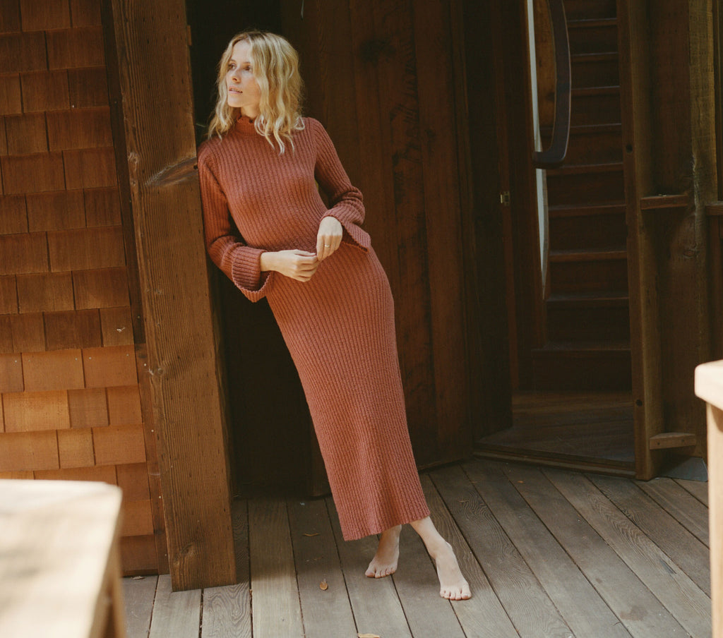 MABELLE SWEATER DRESS -- CINNAMON