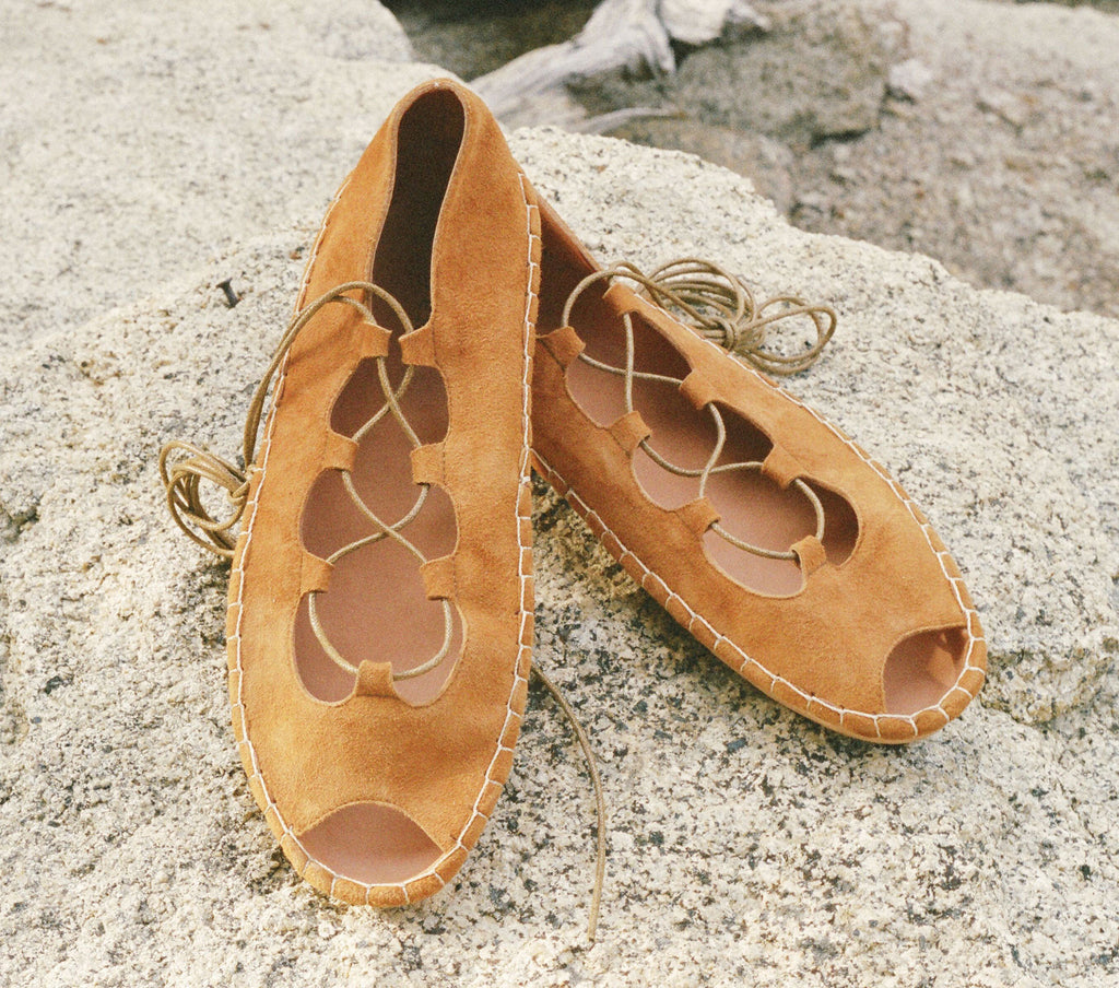 LACE-UP MOCCASIN -- WESTERN TAN