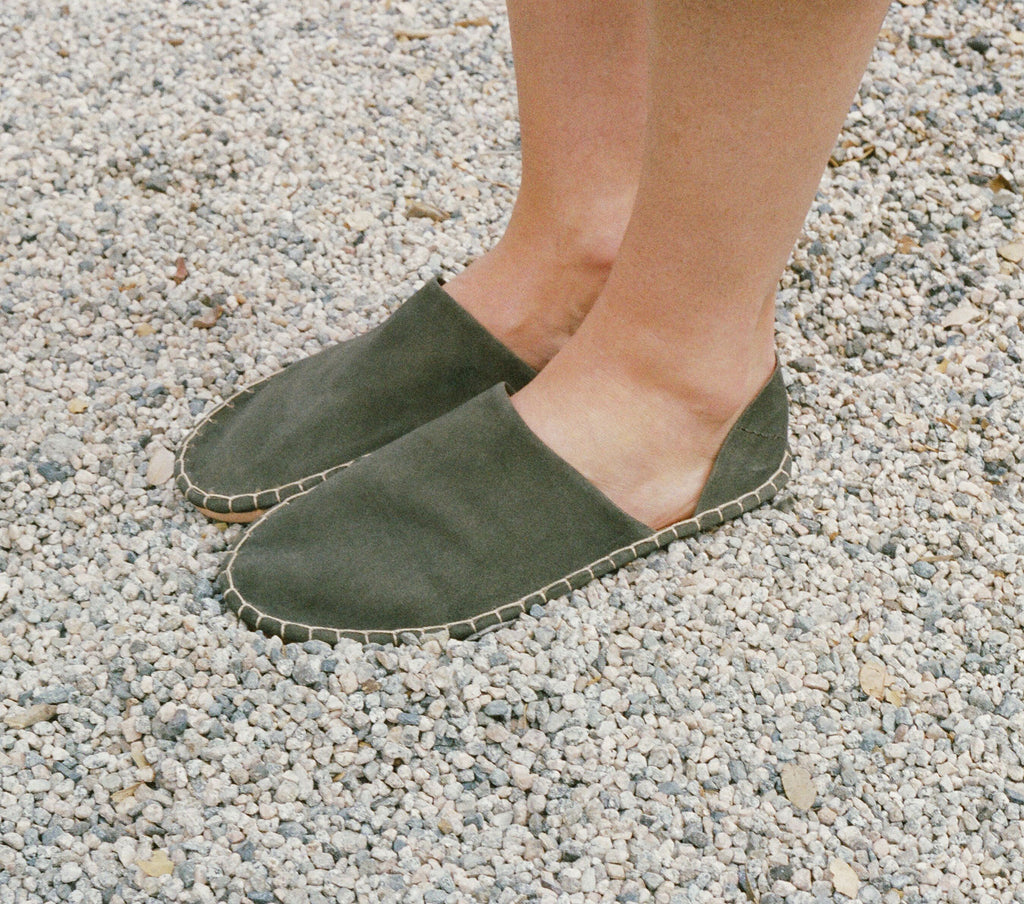 MOCCASIN BABOUCHE -- SAGE