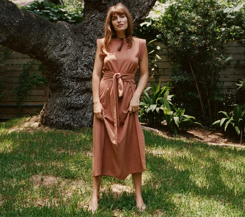 ASH WRAP DRESS -- SIERRA
