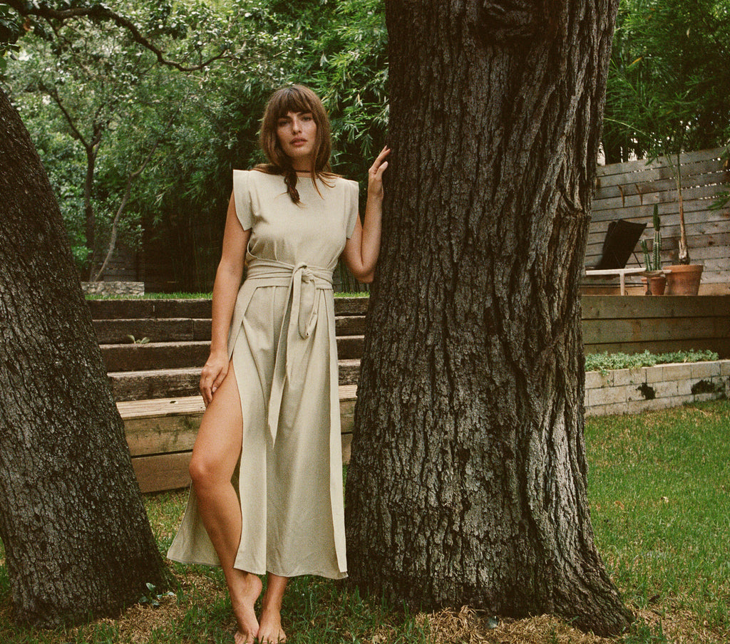 ASH WRAP DRESS -- MOON